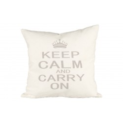 COJIN KEEP CALM AND CARRY ON 50X50CM