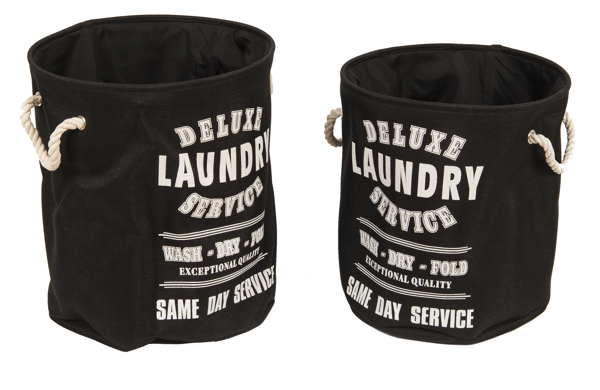 Cestos de Ropa Laundry Negro Ideasdecasa