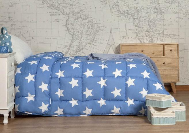 Relleno Nordico Estampado Estrella Azul