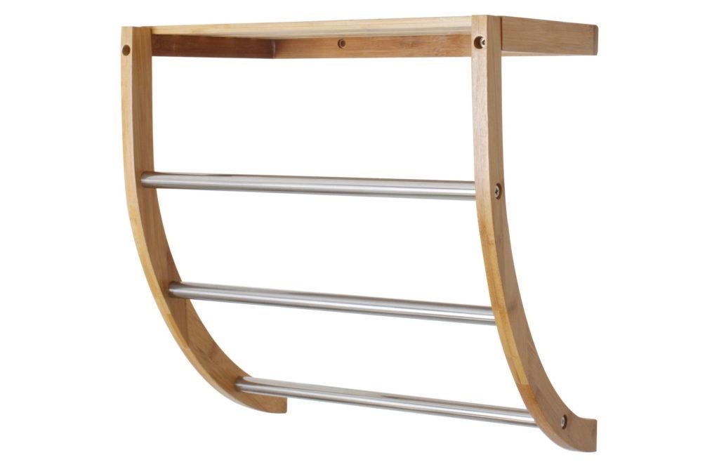 Toallero de pared de bambu. Ideasdecasa