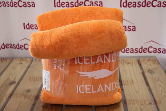 Manta Polar Naranja. Ideasdecasa