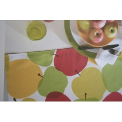 MANTEL ANTIMANCHAS APPLE 150X150 cm