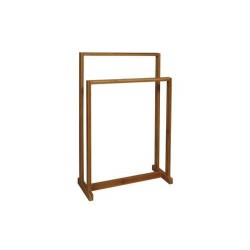 BAMBOO BATHROOM TOWEL RACK. TWO LEVELS. 45X18X65CM