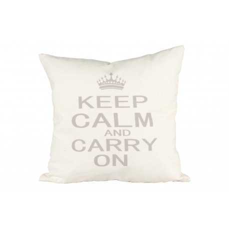 COJIN KEEP CALLM AND CARRY ON 50X50CM