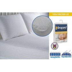 PROTECTOR RIZO TRANSPIRABLE/IMPERMEABLE CAMA 105X190/200+25 cm