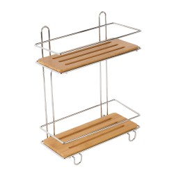 CHROMED BAMBOO SHELF 28x15.5x32cm