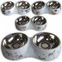 DOUBLE FEEDER FOR PET. MEDIUM SIZE