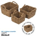 Set 3 cestas country 30x30x19