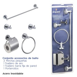 Set 5 accessories wall BON in stainless steel